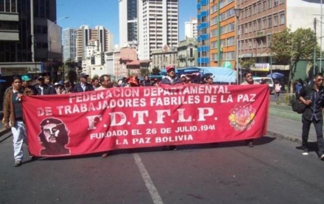 """Fabriles de La Paz deciden reactivar movilizaciones y COB llama """"irresponsable"""" al Gobierno"""