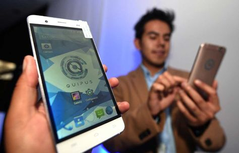 Teléfonos inteligentes Quipus. Foto: Wara Vargas