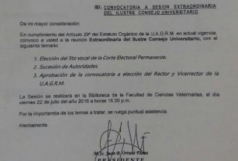 ICU vuelve a sesionar mañana para designar autoridades
