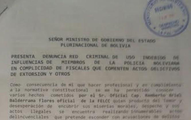 """Teniente denuncia """"red criminal"""" en la Policía Anticorrupción y pide ayuda a Romero"""