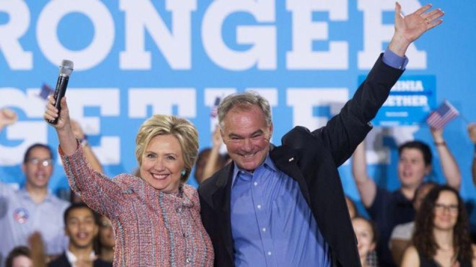 Clinton y Kaine.