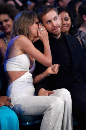 Taylor Swift y Calvin Harris, en los premios Billboard Music de 2015.