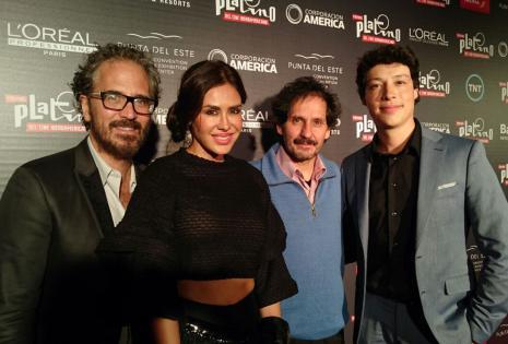 Juan Carlos Valdivia, Carla Ortiz, Marcos Loayza y Reynaldo Pacheco aprovecharon de tomarse varias fotos