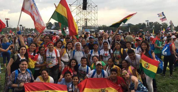 La delegación boliviana en la Jornada Mundial de la Juventud