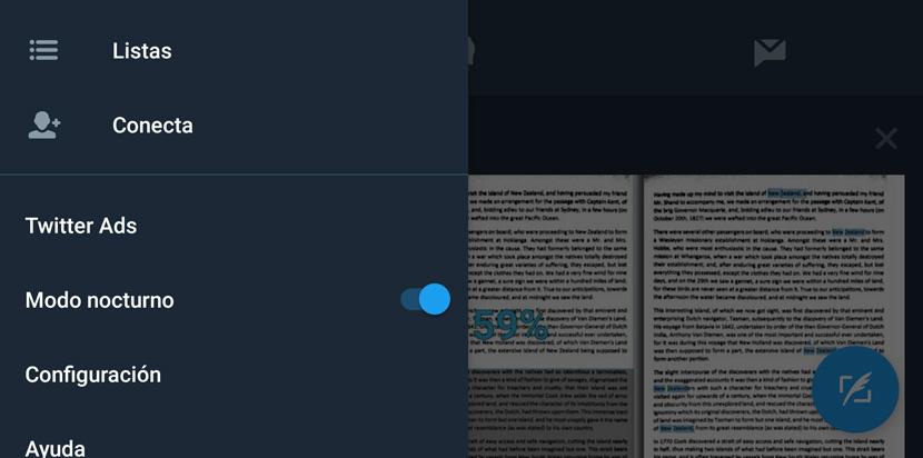 Twitter modo noche