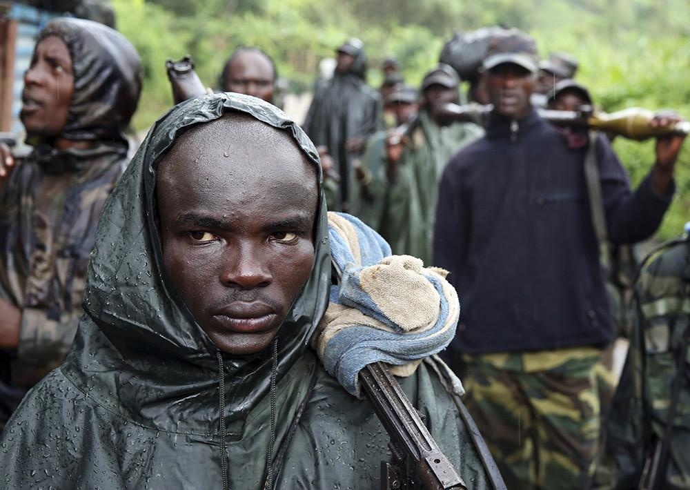 Milicianos del Movimiento 23 de Marzo en Congo, el 30 de noviembre de 2012.