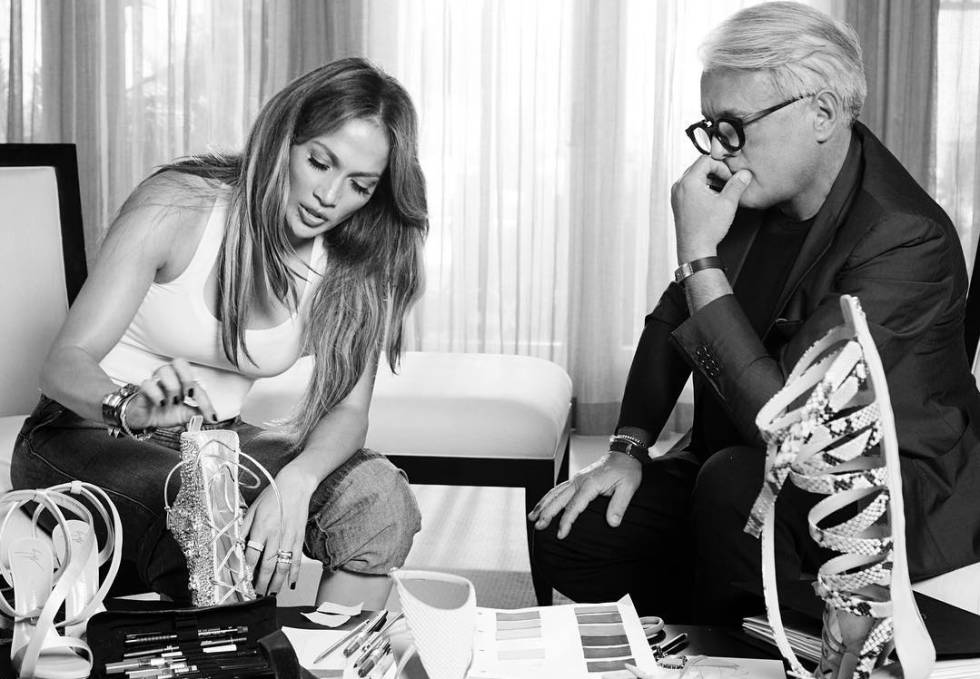 Jennifer Lopez y Giuseppe Zanotti.