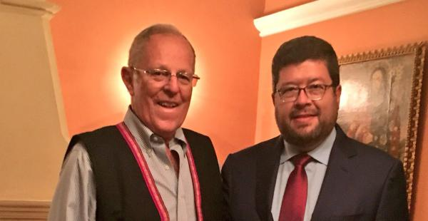 El jefe de Unidad Nacional cumple una agenda internacional de reuniones con políticos del Perú y Estados Unidos.
