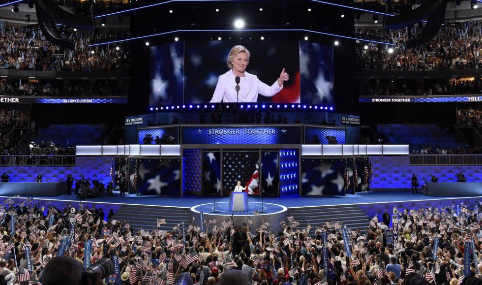El escenario de la convención demócrata.