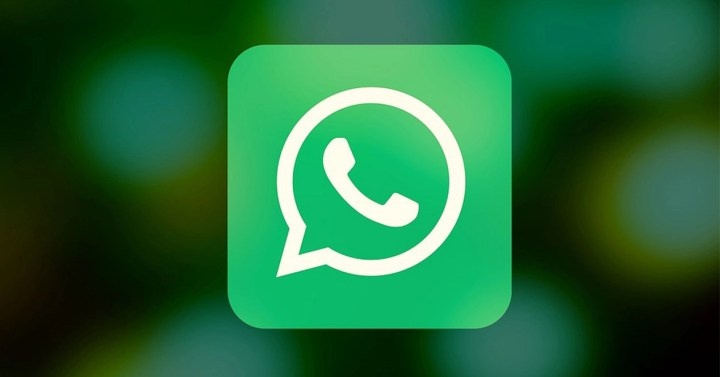 WhatsApp logotipo con fondo desenfocado