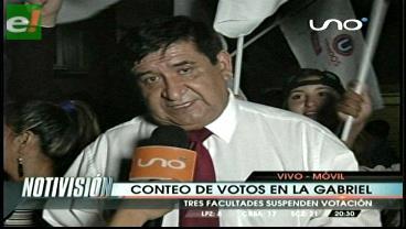 Rosas se declara ganador en la votación de docentes de la UAGRM