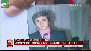 Joven cruceño asesinado en La Paz