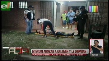 Intentan atracar a un joven y le disparan en la pierna