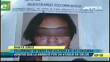 Colombiano detenido por golpear a su ex concubina