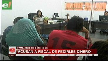 Familiares de atracadores enviados a Palmasola denuncian extorsión de fiscal