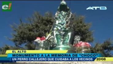 Un perrito callejero en El Alto tiene un justo monumento