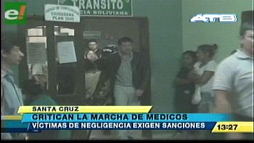 Víctimas de negligencia médica rechazan marcha y exigen sanciones