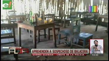 Aprehenden a sospechoso de balacera en Yapacaní