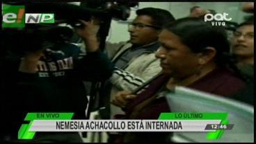 Achacollo fue internada en una clínica y su abogado analiza pedir la suspensión de su audiencia