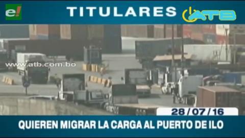 Titulares de TV: Transporte pesado internacional está listo para migrar su carga al Puerto de Ilo