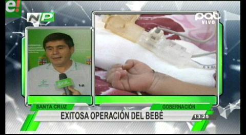 Bebé con malformación es operado con éxito en Santa Cruz