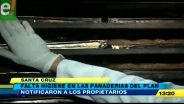 Sorprenden panaderías con falta de higiene en Santa Cruz