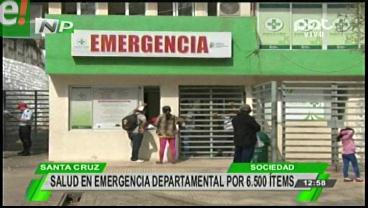 Emergencia departamental de salud en Santa Cruz