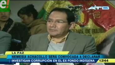 Fiscal General afirma que Achacollo será convocada a declarar por caso Fondo Indígena