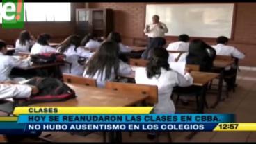 Las clases se inician con normalidad en Cochabamba