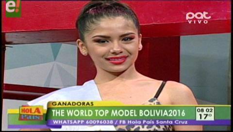 Katherine Vaca ganó el World Top Model Bolivia