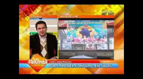 Viceministerio de Defensa al Consumidor: Cines observados por imponer consumos en sus salas