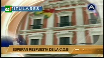 Titulares de TV: Gobierno promulga dos decretos para facilitar un acuerdo definitivo con la COB