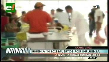 Confirman dos nuevas víctimas por influenza en Santa Cruz