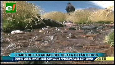 Tres ojos de agua del Silala están secos