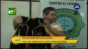 Policía captura a 2 peligrosos atracadores en Los Lotes