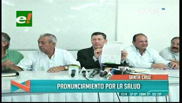 Instituciones reunidas: Emergencia departamental de salud en Santa Cruz