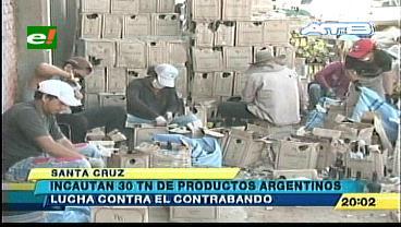 Aduana incauta 30 toneladas de productos de contrabando