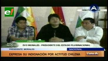 "Evo califica como un acto de racismo el ""bloqueo"" de Chile a canciller Choquehuanca"