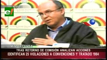 Comitiva boliviana identifica 25 faltas al Tratado de 1904