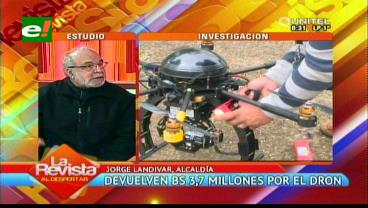 """Landívar y el caso dron: """"La Alcaldía fue resarcida pero sigue con el caso"""""""
