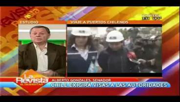 """Senador Gonzáles ve el visado en Chile como """"inamistoso"""" y como una """"sanción"""""""