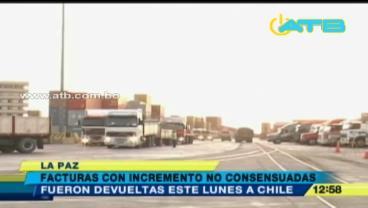 Bolivia devuelve a Chile facturas con incremento de tarifas portuarias