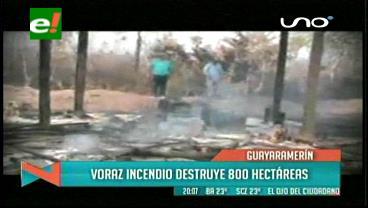 Incendio deja damnificados cerca a Guayaramerín