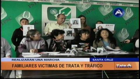 Invitan al pueblo cruceño a marchar en contra de la trata y tráfico de personas
