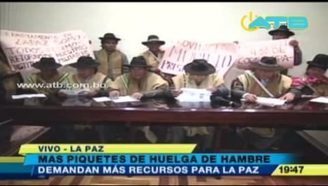 Dirigentes de Palca y Achocalla se suman a huelga de hambre de Patzi