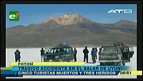 Cinco extranjeros mueren en salar de Uyuni