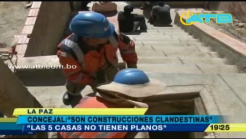 La Paz: Casas afectadas por deslizamiento serían clandestinas