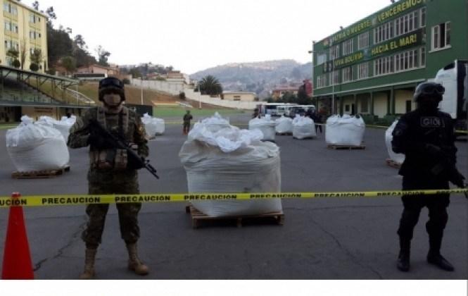 Las 7,5 toneladas de cocaína decomisada tenían un valor de $us 379 millones en EEUU