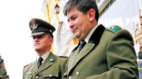 Fabricio Ormachea cuando ejerció la función de jefe policial