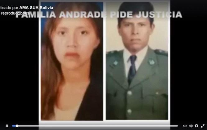 Hermano del teniente Andrade señala a Evo y dice que su familia sufrió hostigamiento y amenazas